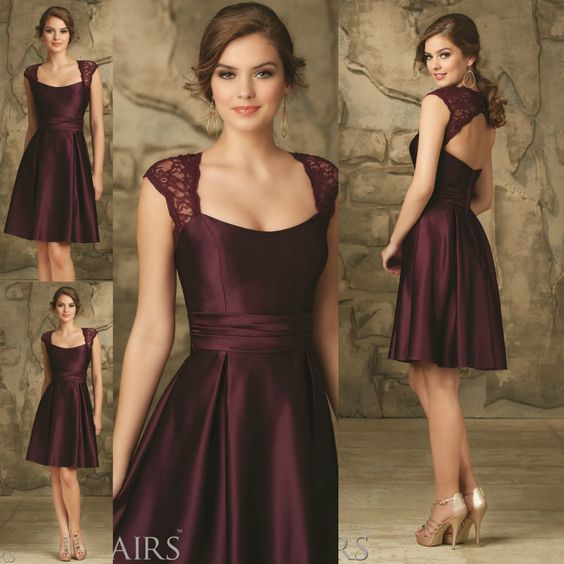 Find More Bridesmaid Dresses Information about Lace Keyhole Back ...