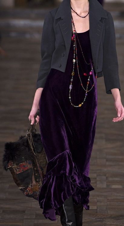 Ralph Lauren Gorgeous in Purple Velvet