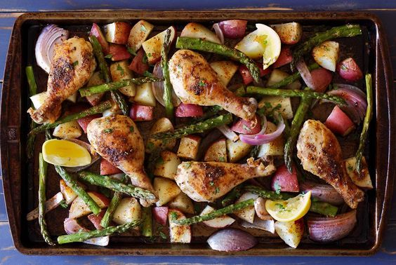 Easy paleo recipe for sheet pan chicken and veggies; One-pan, gluten-free, dairy-free, flavor-full!