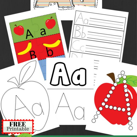 Letter A Practice Pack And Alphabet Upper and Lower Case Matching CardsPin For Later: https://www.pinterest.com/pin/408138784964178021/
