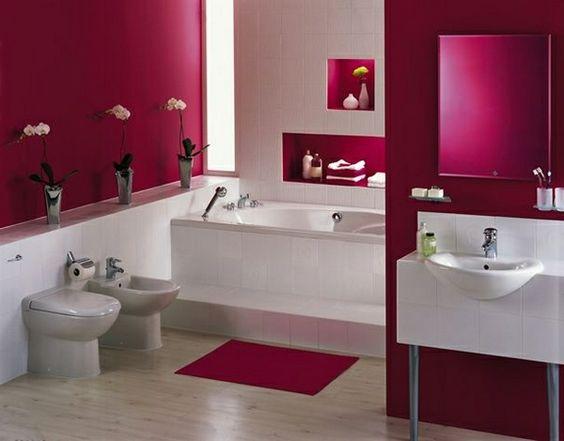 Modernes Badezimmer In Pink Weiß | EINRICHTUNGSIDEEN | Pinterest |  Entspannung, Badezimmer Accessoires Und Schöne Badezimmer