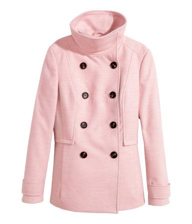 h&m - double-breasted jacket in light pink | Wishlist | Pinterest