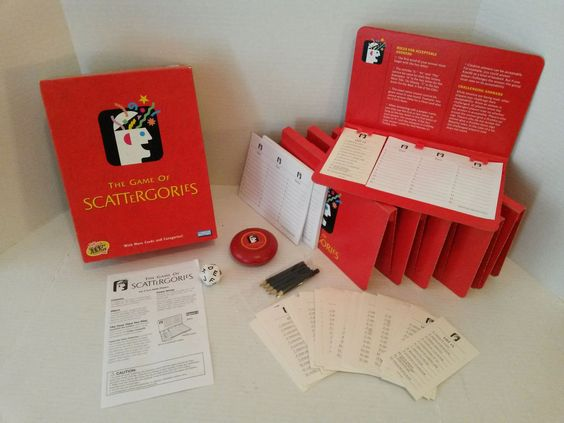 Hasbro Parker Brothers - 2003 Scattergories Categories Board Game - Great Family Fun Toy #HasbroParkerBrothers