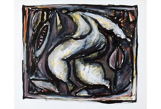 "French Abstract, 1988 on OneKingsLane.com, watercolor, 30"" x 24"", $999"