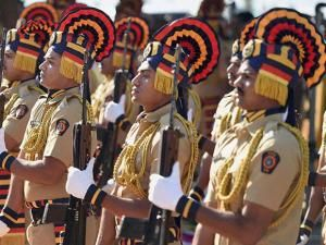 Police officials pay tributes to the martyrs of 2611 attack on the 8th anniversary