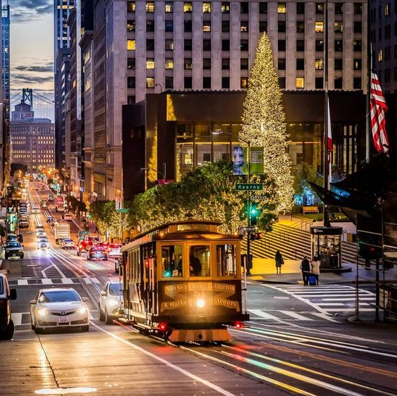 "Dine and Travel™ on Instagram: ""A bright and beautiful holiday season in San Francisco, California. @brandontaoka"""