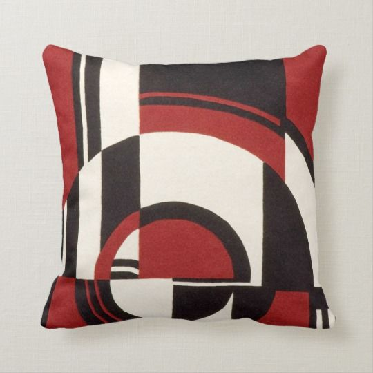 Red White And Black Abstract Art Print Throw Pillow Zazzle Com Throw Pillows Chic Throw Pillows Pillows