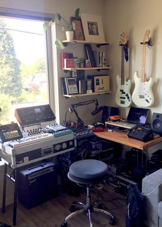 10 Awe Inspiring Small Music Studio Ideas For Apartments Music Studio Room Home Music Rooms Home Studio Setup