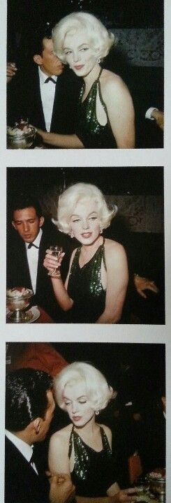 Marilyn with Jose Bolanos at the Golden Globes, 1962.