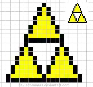 how to make minecraft pixel art templates - zelda triforce pixel art template pixel art pinterest