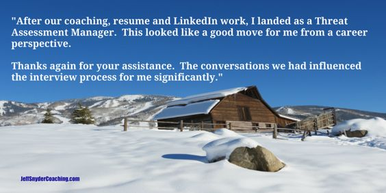 Jeff Snyder Coaching, Resume Coaching, LinkedIn Coaching, Career - coaching resume