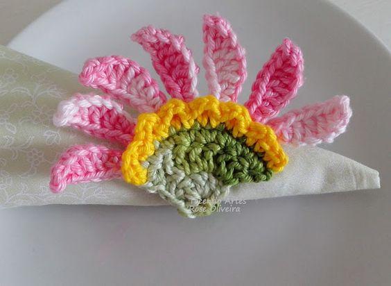 Tecendo Artes em Crochet: Argolas p/ guardanapos