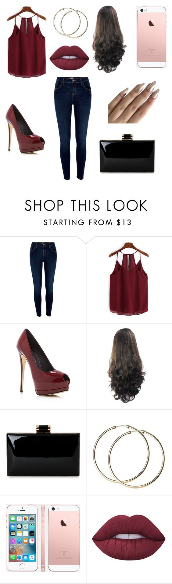 """""""Date Night"""" by rylanhoran ❤ liked on Polyvore featuring River Island, Giuseppe Zanotti and Lime Crime"""