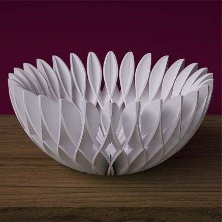 Selassi 3D printed lattice bowl. | Fabneo - an online boutique for 3D printed jewelry, art  lighting on http://www.fabneo.com remember to subscribe on youtube - Original post: http://pinterest.com/pin/565694403165033431/