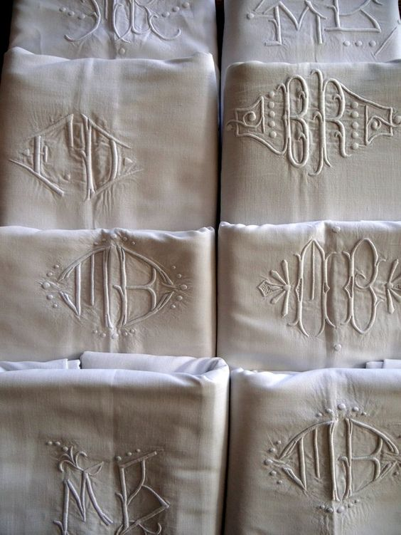 antique monogrammed french linen sheets