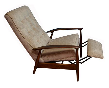 I'll take a couple of these, please. Reupholstered in nubbly black wool fabric.