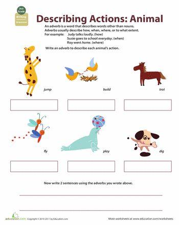 animals worksheets and adverbs on pinterest. Black Bedroom Furniture Sets. Home Design Ideas