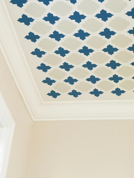 How to Stencil a Pattern on Your Ceiling >> http://www.hgtvremodels.com/interiors/stencil-a-fun-pattern-on-your-ceiling/pictures/index.html?soc=pinterest