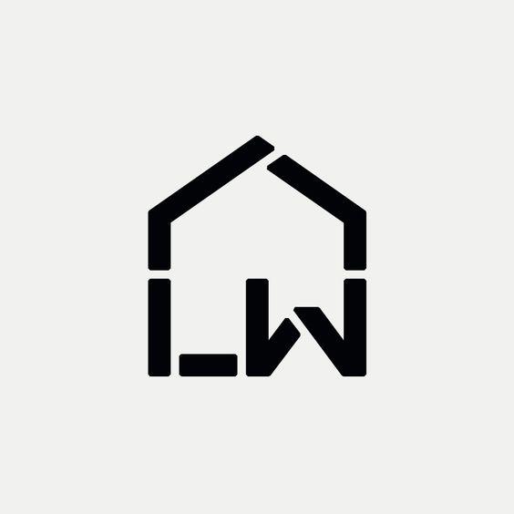LW Modern monogram by British freelance logo designer Richard Baird - richardbaird.com