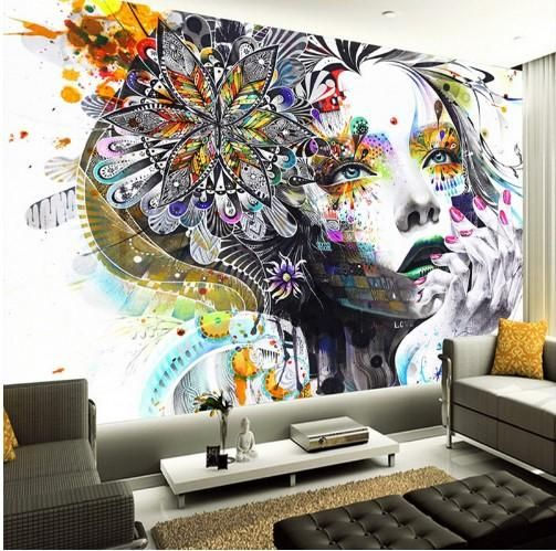 3d Colorful Abstract Figure Wallpaper Mural For Home Or Business Wallpaper Walls Bedroom Mural Wallpaper Mural Wall Art