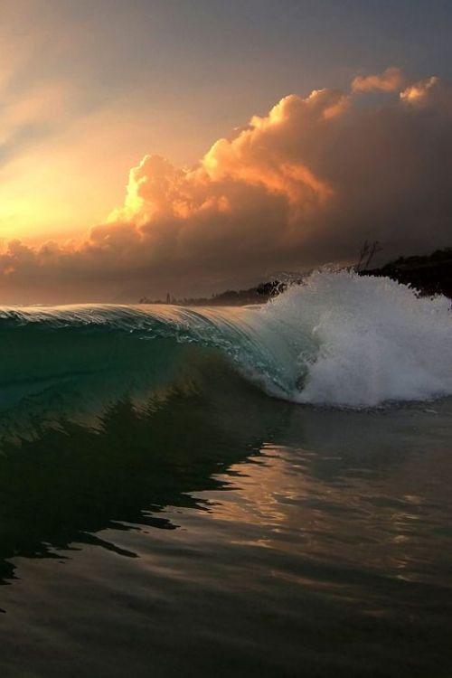 Wave Sunrise, Oahu - by Freddy Booth
