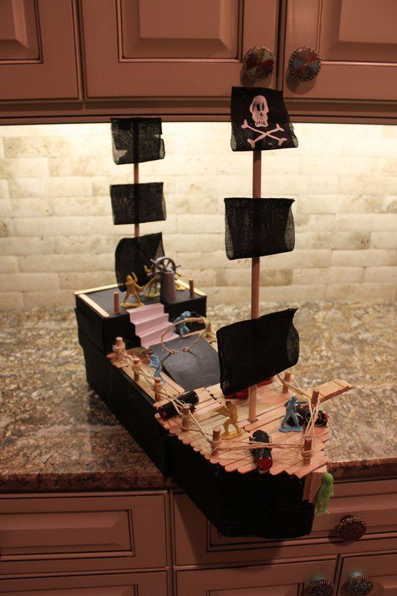 Pirate Ship Valentine Box: Valentine Box, Valentines Boxes, Valentines Kids, Valentines Day, Holiday Valentines, Valentine S Box, Cody S Valentines