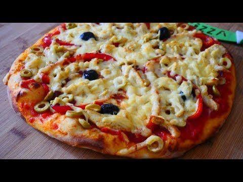 بيتزا عشر دقائق Pizza Youtube Food Vegetable Pizza Hawaiian Pizza
