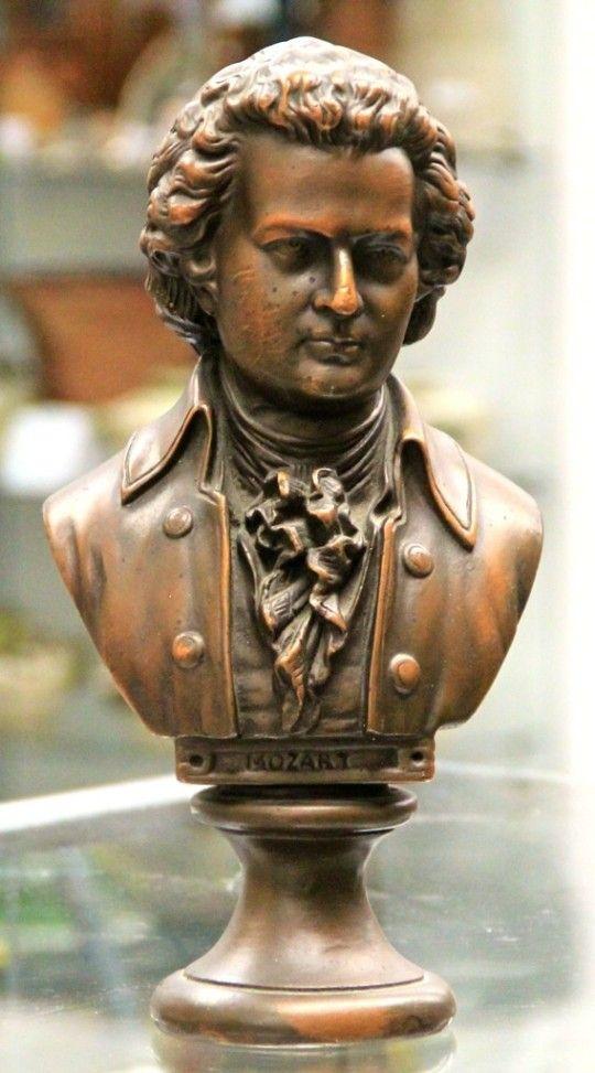 Mozart Armor Bronze Bust (SOLD)