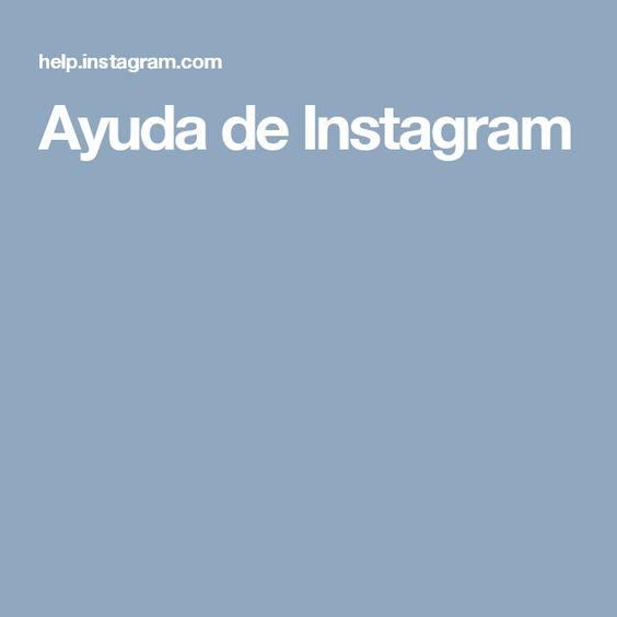 Ayuda de Instagram