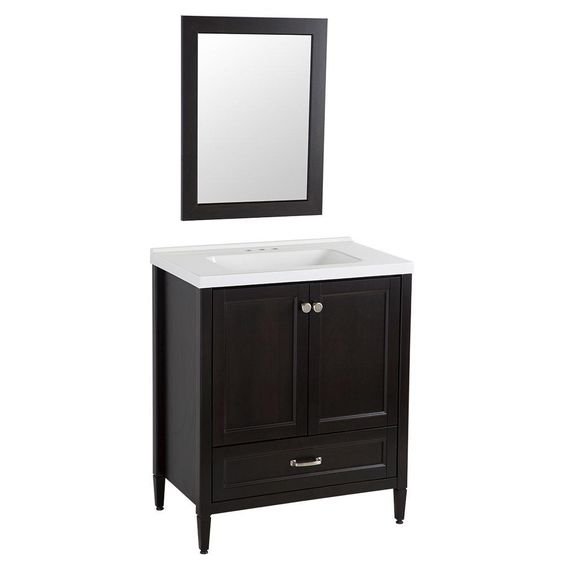 Home decorators collection claxby 30 in vanity in for Home decorators vanity top