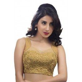 Gold designer wear raw silk
