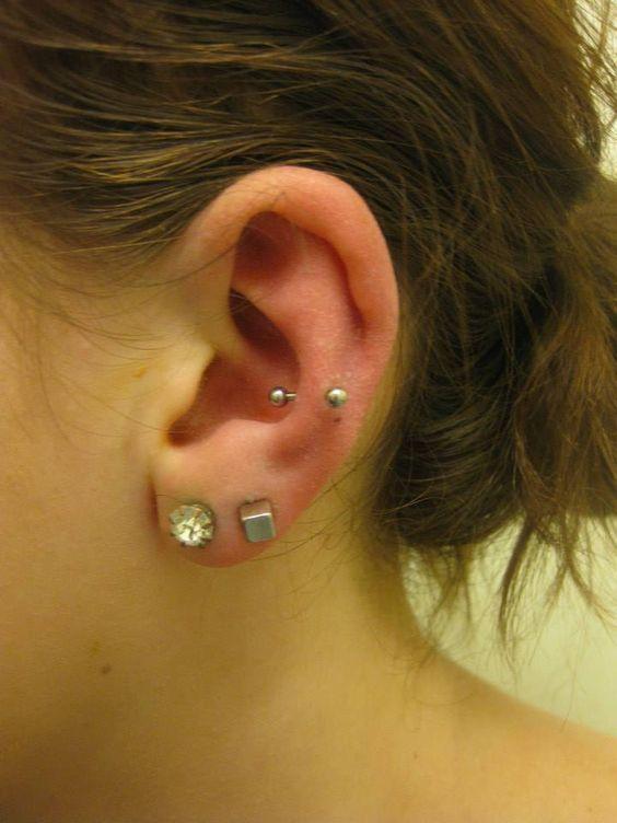 Snug Piercing #snug #ear #cartilage #piercing
