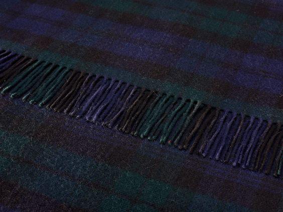 Bronte Throw Blanket - Tartan Throw - Merino Lambswool (Black Watch)