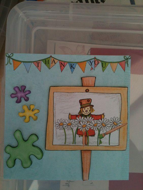 Scarecrow thank you card