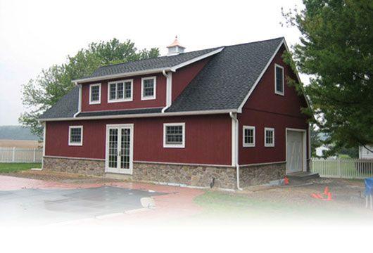 Pole barns barns and pole barn houses on pinterest for Complete barn home kits