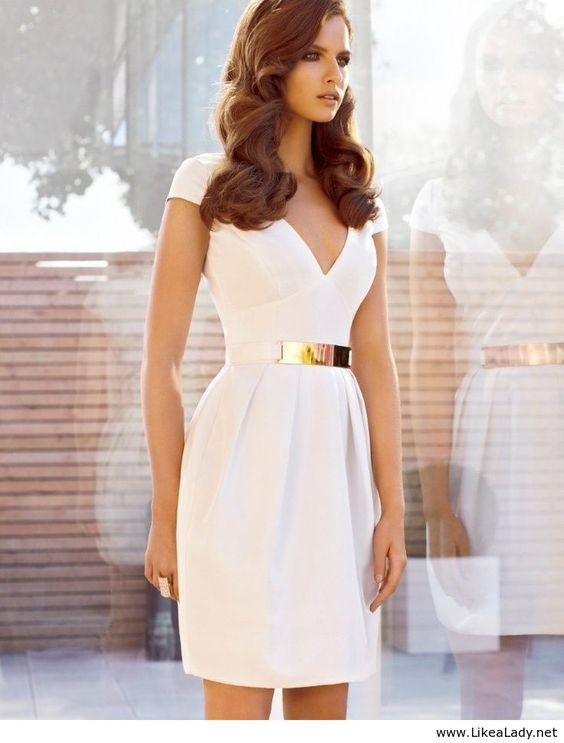 Graduation Fashion Tips  Bridal shower dresses Classy white ...