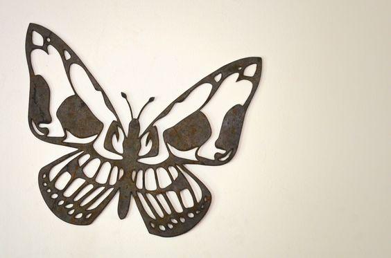 Decoración Mariposa fierro diseño Plasma metal cut cnc ironpig