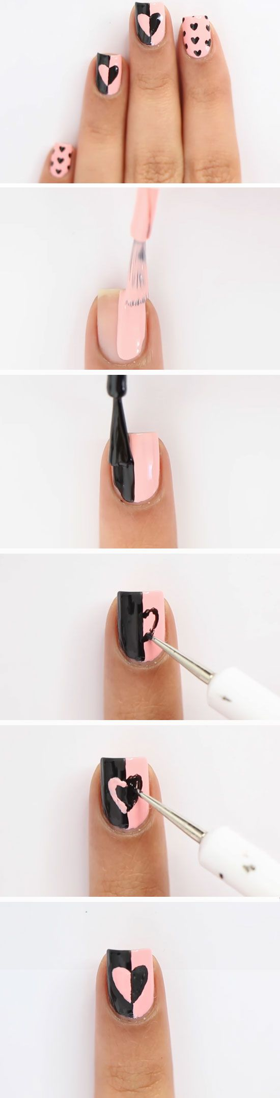 Queen of hearts 15 easy valentines day nail designs for short queen of hearts 15 easy valentines day nail designs for short nails diy nail art ideas for spring uas decoradas f pinterest short nails prinsesfo Images