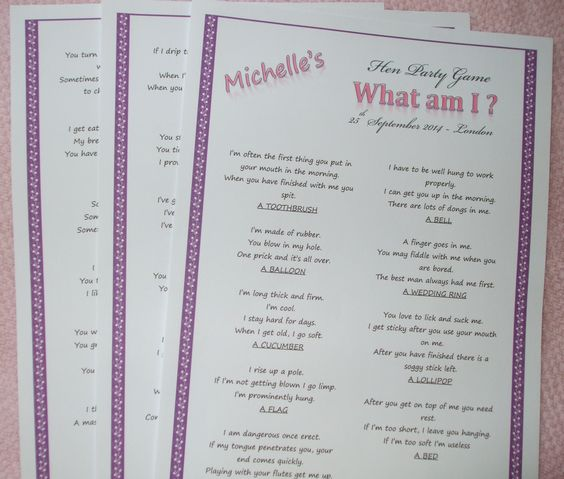 Personalised Version Of The What Am I Game. This Can Have