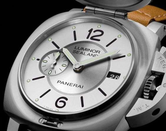Panerai Luminor 1950 Sealand Year of the Goat PAM848 dial angleview