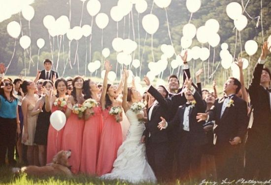 wedding balloon release put glow sticks in the balloons so you can do this at night