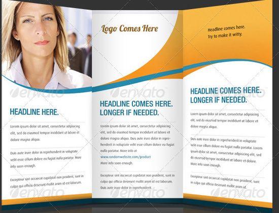 Brochure Templates  TriFold Corporate Brochure Templates