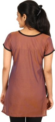 Aashitha Casual Solid Women's Kurti - Buy Brown Aashitha Casual Solid Women's Kurti Online at Best Prices in India   Flipkart.com