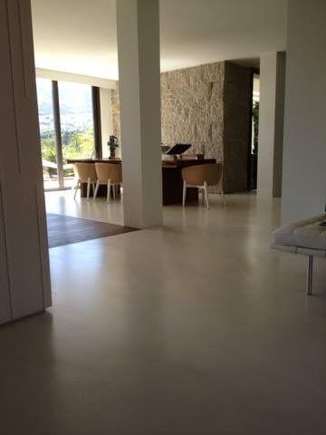 Microcemento color arena caribe, piso continuo Microcementos de Centroamérica, San Pedro Sula tel 2550-0679