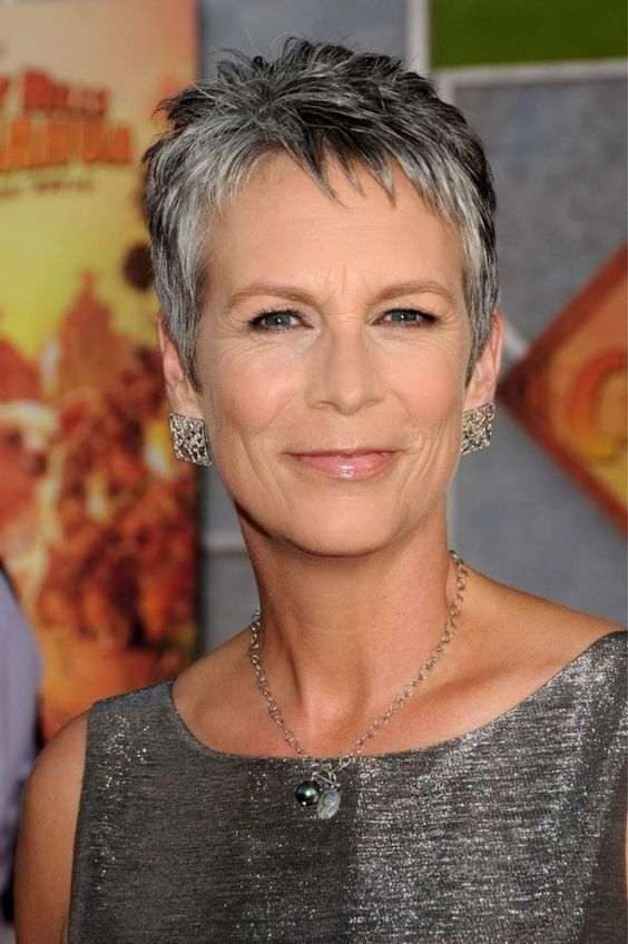 Jamie Lee Curtis proves that grey hair looks great on older women like me! :)