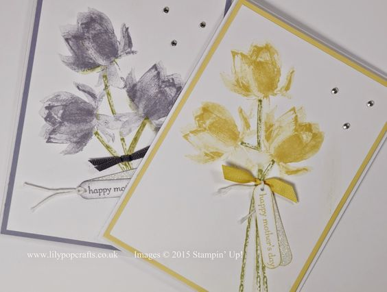 lilypopcrafts : Stampin' Up! featuring Lotus Blossom Stamp Set - Bunch of Blossoms Card