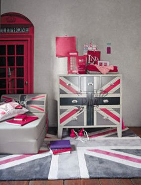 Chambre british girl chambre fille pinterest chambre for Chambre ado style british