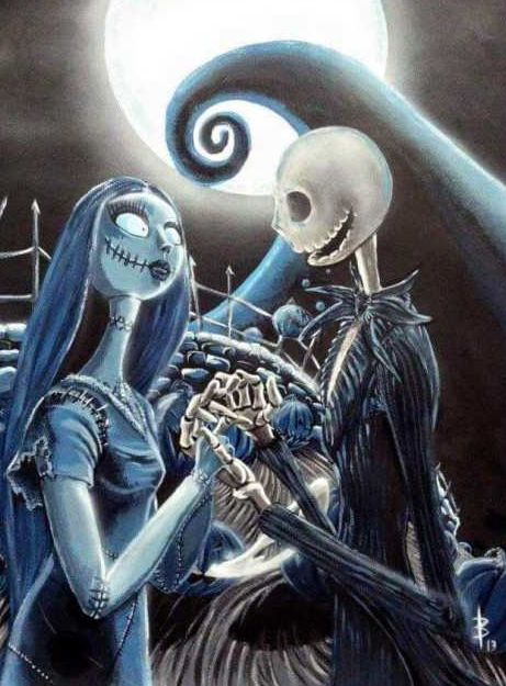 We can live like Jack & Sally if we want ❤ best Tim Burton couple