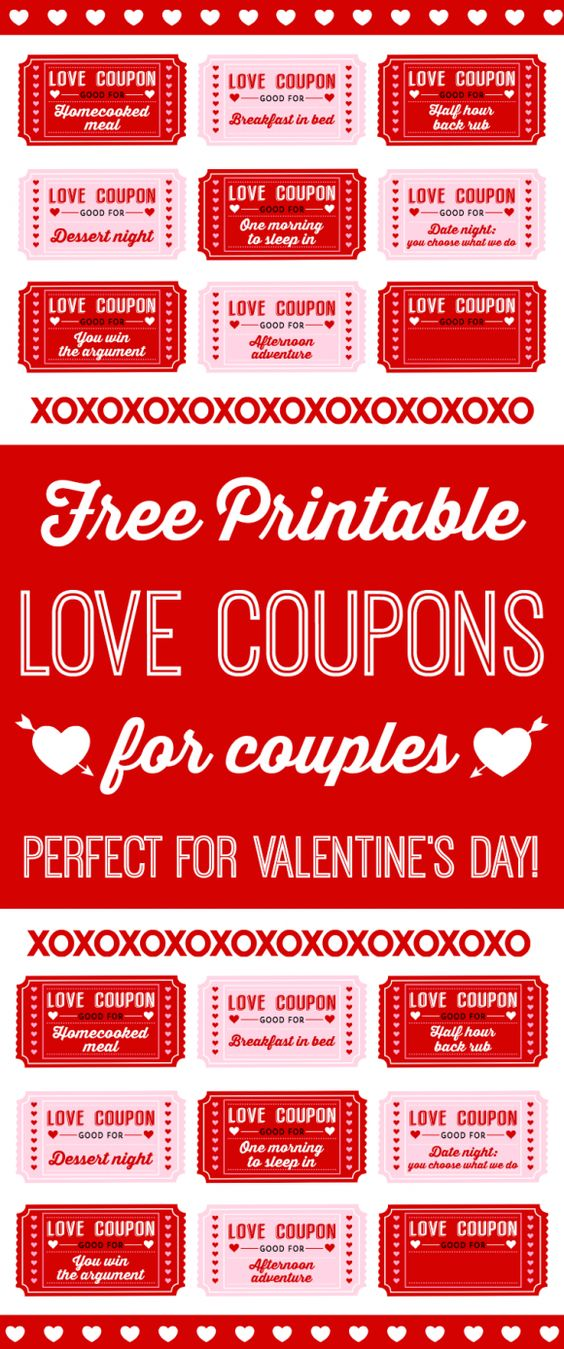 Free printable love coupons for couples on valentine 39 s day for Valentine day ideas for couples