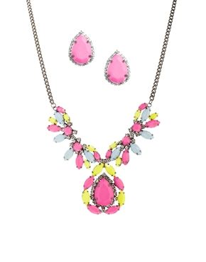 Asos - pink and yellow necklace